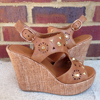 Yellow Box Maribel Wedges - Tan