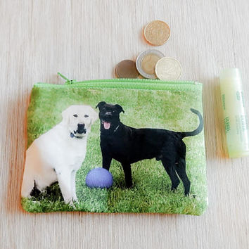Make Up Bag/ Dog Gift for Her/ Gift for Dog Lover/ Gift for Mom/ Valentines Day Gift/ Gift for Wife/ BFF Gift/ Coworker Gift/ Sister Gift