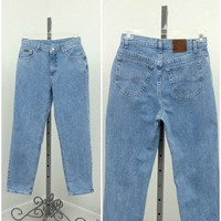 """Vintage 90s Riveted By Lee High Waisted Jeans, Blue Jeans, Mom Jeans, High Rise Jeans, High Waist Jeans, Relaxed Fit Jeans, 30"""" Waist"""