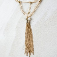 Oh Gussie Beaded Tassel Necklace | Clothing Accessories | Jewelry | Necklaces - Cracker Barrel Old Country Store