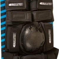 Bullet Adult Small Combo Knee/Elbow/Wrist Guards Black