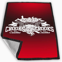 Crooks and Castles Blanket for Kids Blanket, Fleece Blanket Cute and Awesome Blanket for your bedding, Blanket fleece **