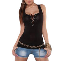 Casual Tank Top Summer Sexy Lace Halter