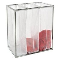 Chrome Triple Laundry Bag Stand | The Container Store
