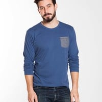 Longsleeve Sueded Jersey Tee - Faded Navy : Marine Layer