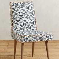 Shellflower Zolna Chair by Anthropologie in Dark Blue Size: One Size Furniture