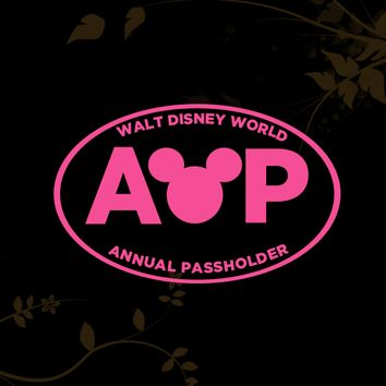 Walt Disney World Annual Passholder Decal for your Car, Walls, Laptop