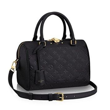 LV Women Shopping Leather Tote Louis Vuitton Monogram Canvas Cross Body Handbag Speedy Bandouliere 30 M42406 Made in France
