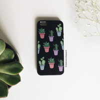 Cacti Phone Case - Black