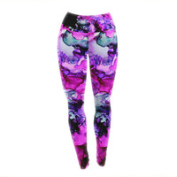 "Claire Day ""Siren"" Pink Purple Yoga Leggings"