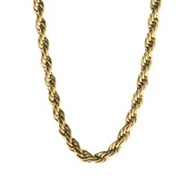 6mm Gold Rope Dookie Chain