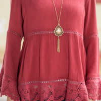 Baby Be Mine Top, Rose