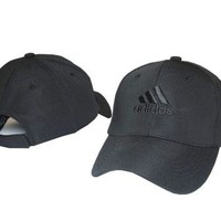 Black ADIDAS Embroidered Baseball embroidered cap