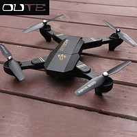 RC Helicopter XS809W Mini Foldable Drone with 2.0MP Camera HD RTF RC Selfie Drone Wifi FPV Altitude Hold Mode RC Quadcopter Dron