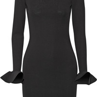 Lanvin - Ruffled stretch-jersey mini dress