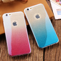 For iPhone 6 6S Case Luxury Glitter Gradient Slim TPU Back Cover Bling Sequin Soft Gel Girly Coque For iphone 7 7 Plus 6 6S Plus