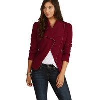 Rebel Burgundy Moto Jacket