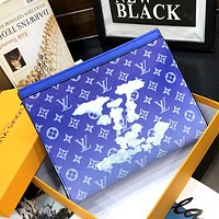 LV 2020 full printed logo clutch clutch bag