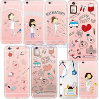 New Medical Equipment Hard Plastic Material Phone Case Cover for Apple iPhone 5 5s SE 6 6s/plus Profession Lady Case Capa Cover