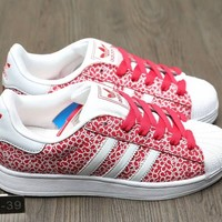 """Adidas Superstar 2W"" Women Casual Fashion Print Shell Head Plate Shoes Sneakers"