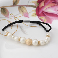 Styles Simulated Pearls Elastic Headwear Hair Accessories Girl's Beads Scrunchy Ponytail Holder