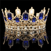 Large Bride tiara Crown Wedding Hair Jewelry Crystal Tiaras and Crowns Headdress Queen King Hair Ornament Pageant Diadem