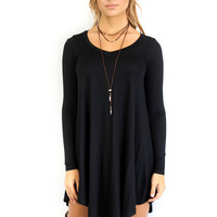 Queen of Hearts Black Long Sleeve Dress