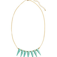 H&M - Necklace with Stone Pendants - Gold - Ladies