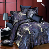 3D love flower Bedding Sets 4pcs/set Duvet Cover set Bed Sheet Bedclothes Queen Size