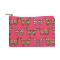 Bianca Green Butterflies Fly Pouch