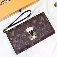 Hipgirls Louis Vuitton LV Fashion New Monogram Leather High Quality Purse Wallet