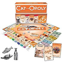 Collections Etc CAT-opoly Board Game - Fun Game Idea for Cat Lovers: LatefortheSky: Toys & Games