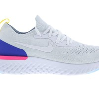 Nike Epic React Flyknit White Racer Blue Pink Blast Mens Trainers AQ0067-101