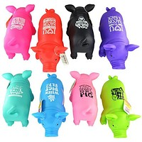 Snorting Pig Toy - 8 colors with Funny Sayings