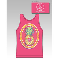 Sassy Frass Stand Tall Wear a Crown Pineapple Comfort Colors Girlie Bright Tank Top T Shirt