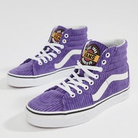 Vans Exclusive To Asos Purple Corduroy Sk8-Hi Trainers at asos.com