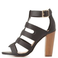 Strappy Single Sole Heels by Charlotte Russe
