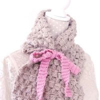 Crochet PATTERN - Instant download: Odonna Neck warmer with Bow Tie