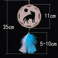 Turquoise Linen Dream Catcher Innovative Hollow Out Cars Home Decor [9613384847]