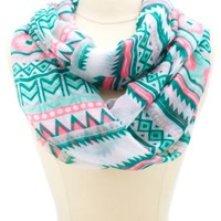 TRIBAL PRINTED INFINITY SCARF