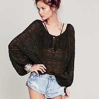 Free People Womens Only in My Dreams Peasant Blouse