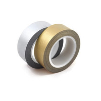 Solid Siver or Gold Washi Masking Tape - Great for Weddings, Wedding Invitations and Gift Wrap