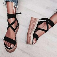 Hot selling sexy fashion women's shoes with fish-tip platform sandals