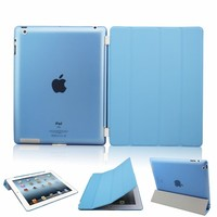 Blue Smart Cover and Clear Back Case for iPad Air iPad 5