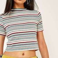 Urban Outfitters Tipped Striped Short Sleeve T-Shirt | Urban Outfitters