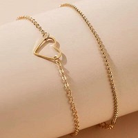 2pcs Heart Decor Bracelet