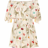 Exclusive to mytheresa.com – off-the-shoulder printed dress
