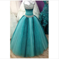 Debutante Cheap Quinceanera Dresses 2016 Multi-colors Sweetheart Beading Quinceanera Ball Gowns Puffy Vintage Prom Dress sweet