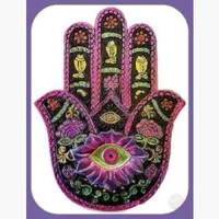 Black & Fuchsia Hamsa Hand Incense Burner