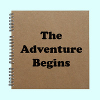The Adventure Begins - Book, Large Journal, Personalized Book, Personalized Journal, Scrapbook, Smashbook